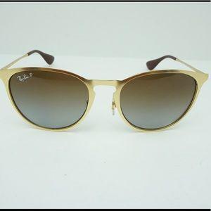 Ray-Ban gold and brown sunglasses